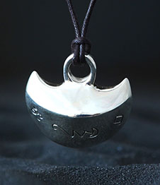 Telos Magic Moon Talisman Silver Front View