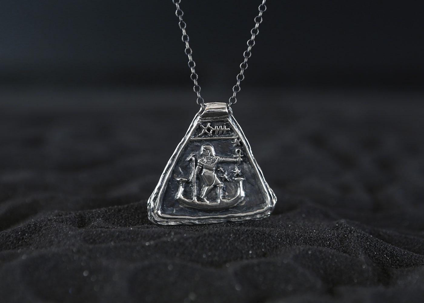 Telos Magic Sirius Amulet Silver Front View