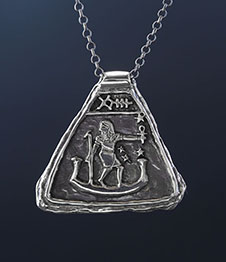 Telos Magic Sirius Amulet Silver Front View