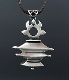 Telos Magic Mercury Talisman Silver Front Side