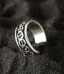 Telos Magic The Golden Chain Of Homer Silver Ring Side View