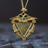 Telos Magic Abracadabra Amulet Pendant With Gold Chain