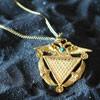 Telos Magic Abracadabra Amulet Pendant Gold Above View