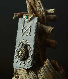 Telos Magic Jupiter Amulet 'mezuza' Side View