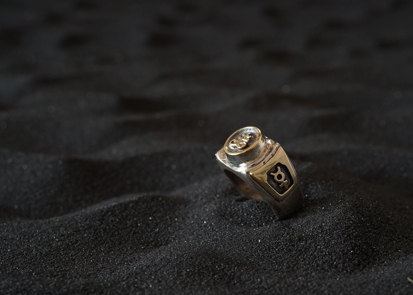 Telos Magic The Alchemical Ring Silver And Gold Side View