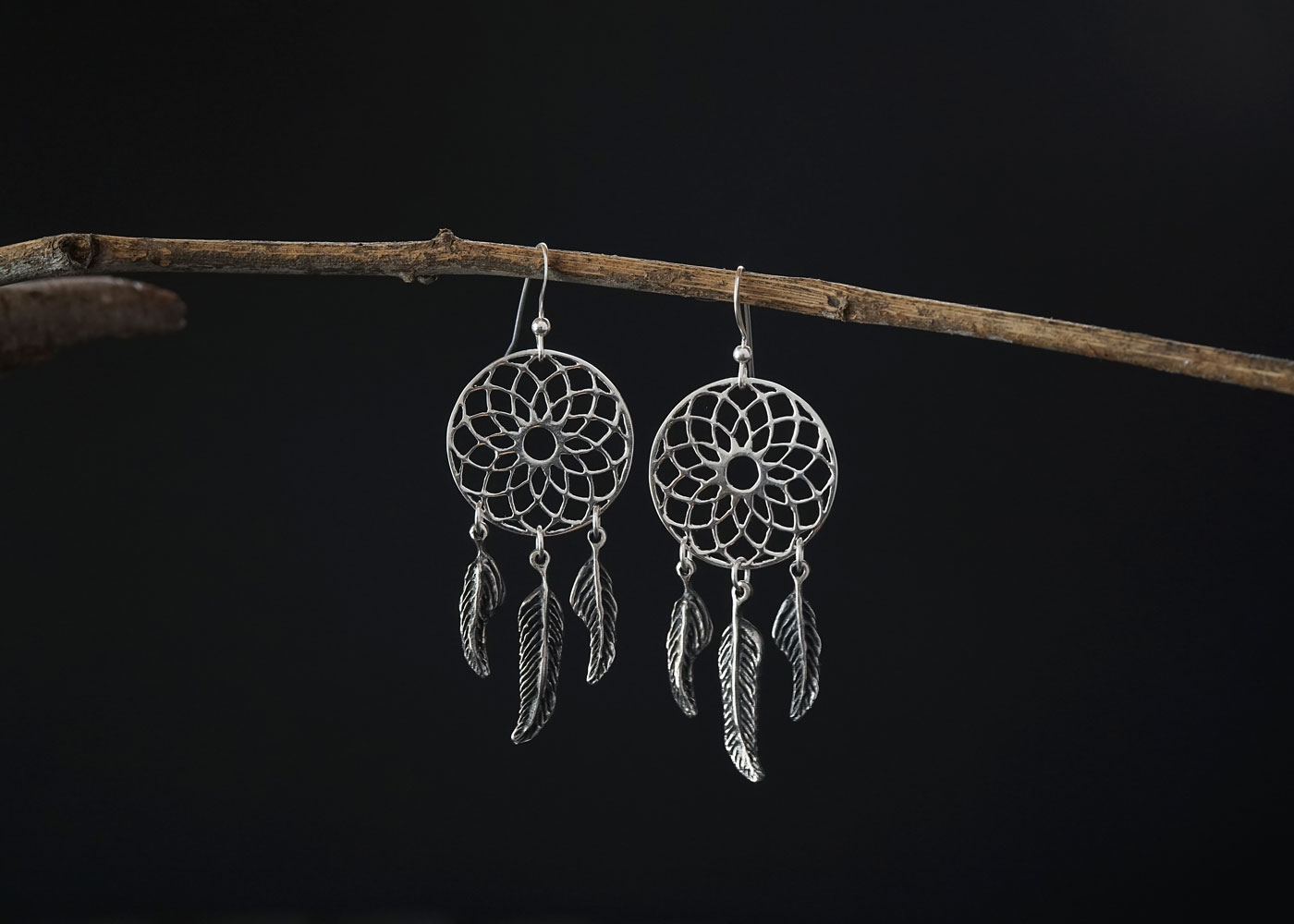 Telos Magic I Am A Lucid Dreamer Earring Silver Front View1