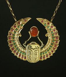Telos Magic Egyptian Scarab Gold Front View