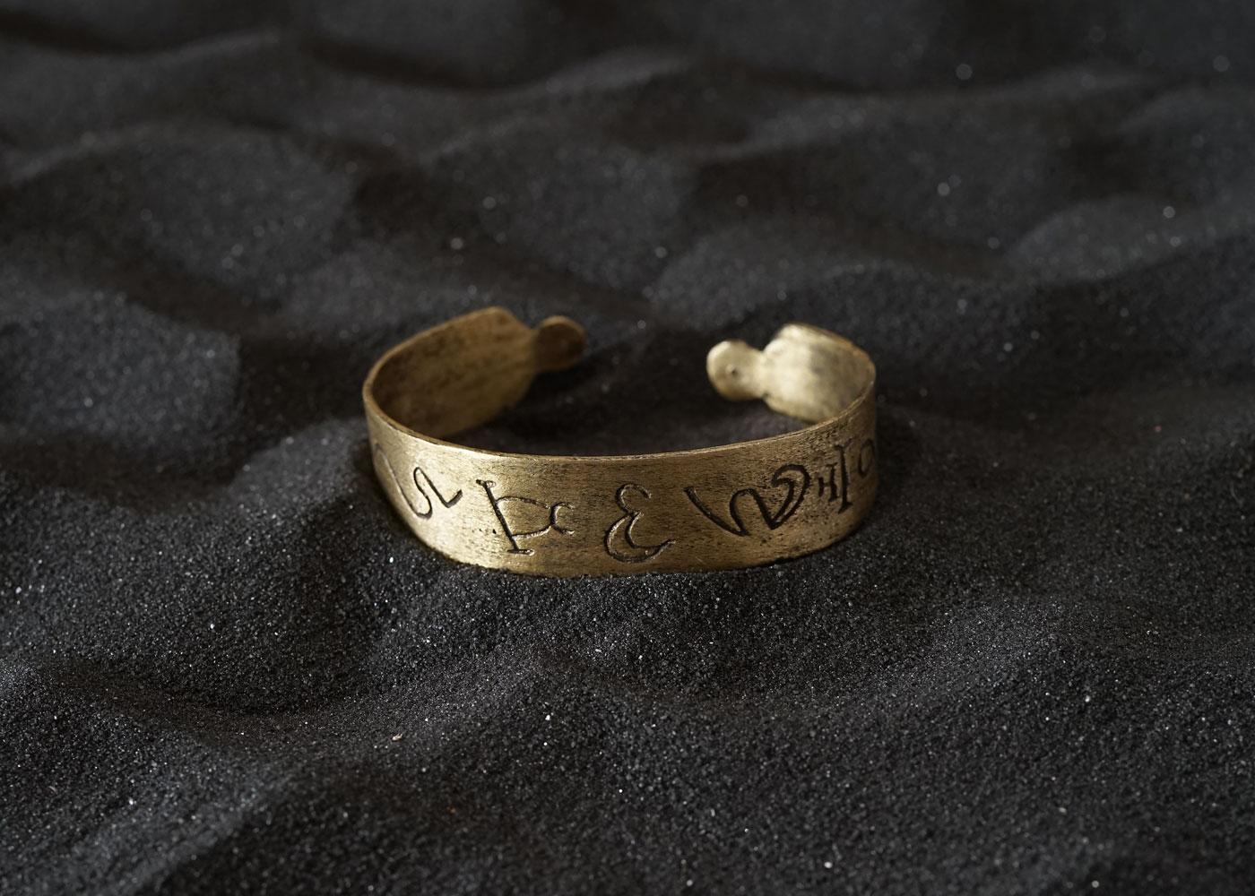 Telos Magic Sun Bracelet Brass Upper View