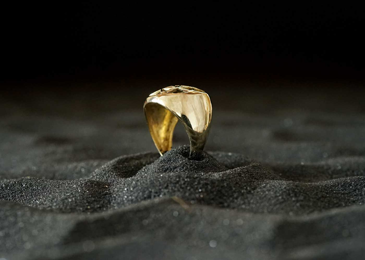 Telos Magic Seed Of Life Gold Ring 3 Side View1