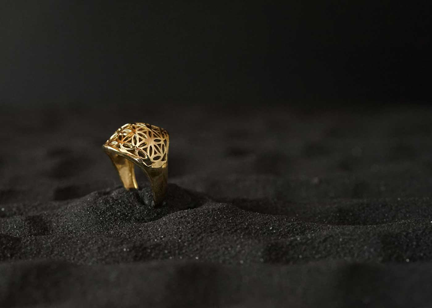 Telos Magic Seed Of Life Gold Ring 2 Side View