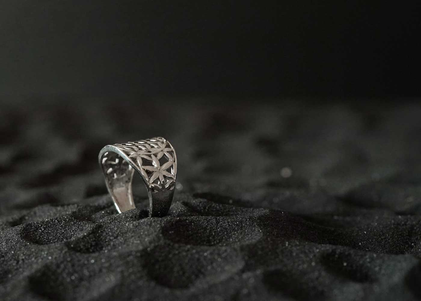 Telos Magic Seed Of Life Silver Ring 1 Side View1