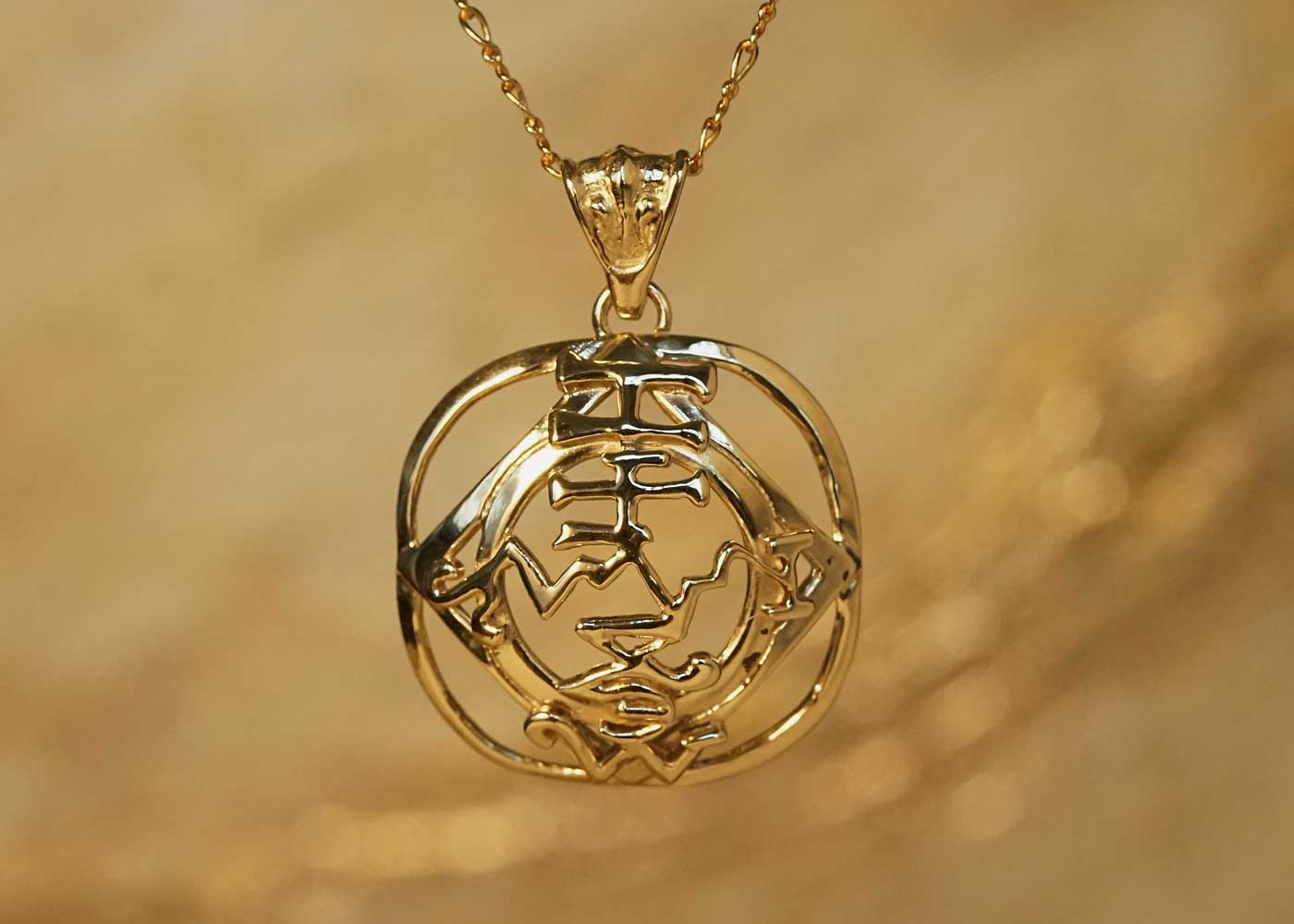 Telos Magic Saturn Talisman Gold Front