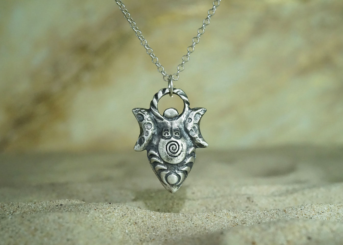 Telos Magic Moon Goddess Totem Silver