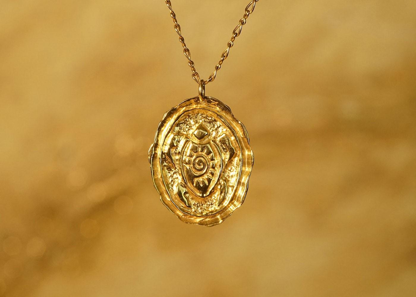 Telos Magic Shamanic Turtle Gold Front