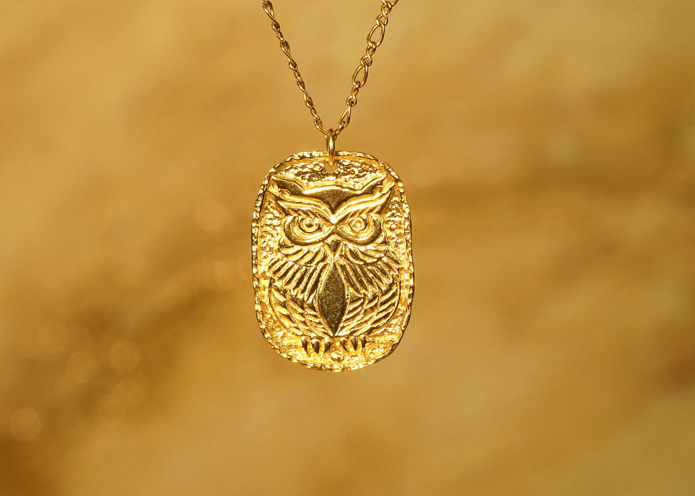 Telos Magic Shamanic Owl Gold Front